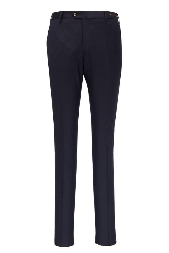 PT Torino Navy Blue Wool Super Slim Fit Pant
