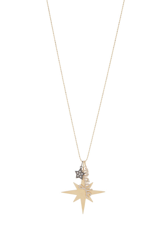 Sydney Evan 18K Gold Starburst, Magic & Star Charm Necklace