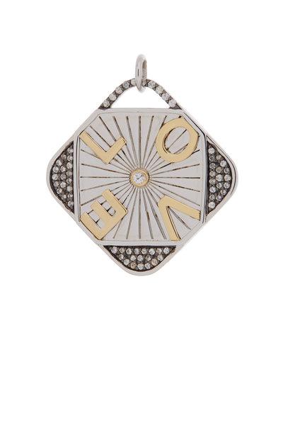 Monica Rich Kosann - Sterling Silver & Gold Love Charm