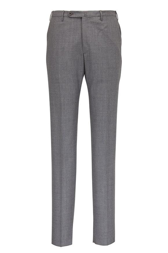 Incotex Matty Gray Wool & Silk Modern Fit Pant