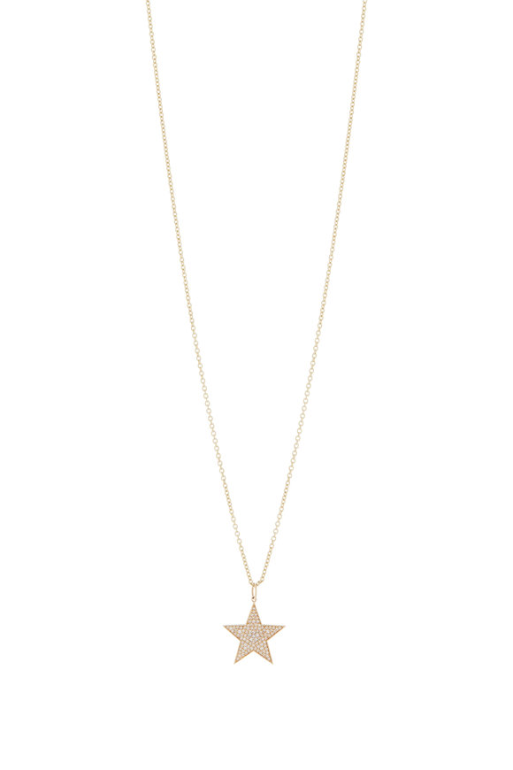 Sydney Evan Diamond Star Charm Necklace