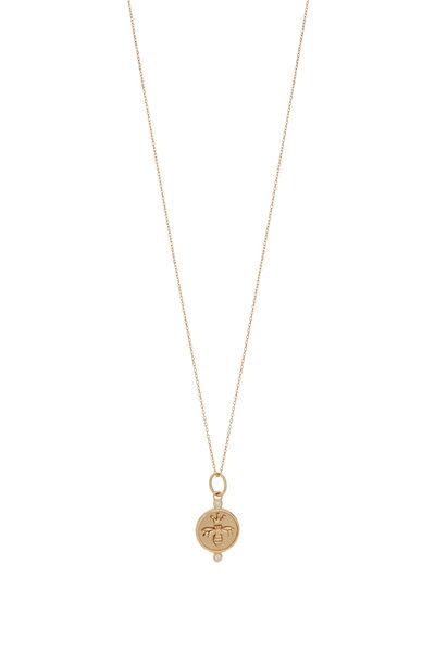 Monica Rich Kosann - 18K Yellow Gold Bee Charm Necklace