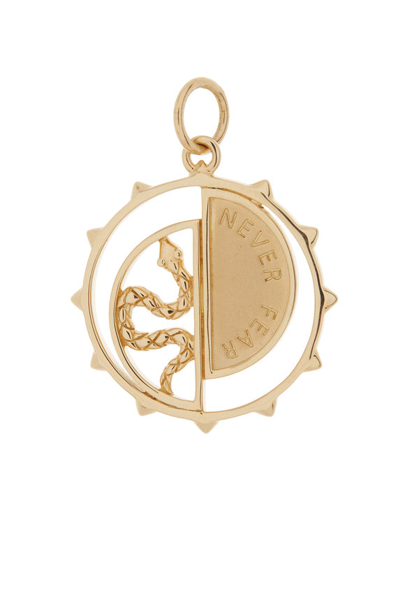 Monica Rich Kosann 18K Yellow Gold Never Fear Snake Medallion