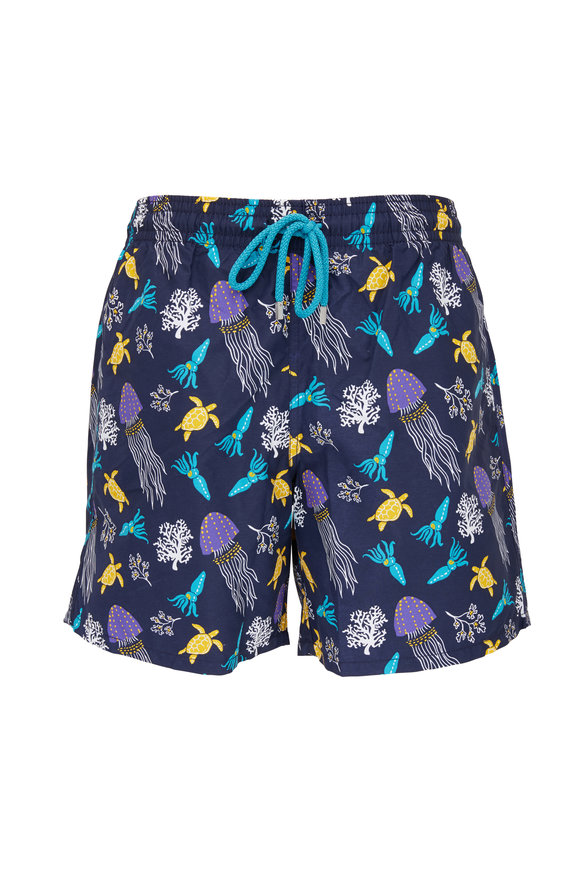 Vilebrequin Moorea Rocket Medusa Swim Trunks