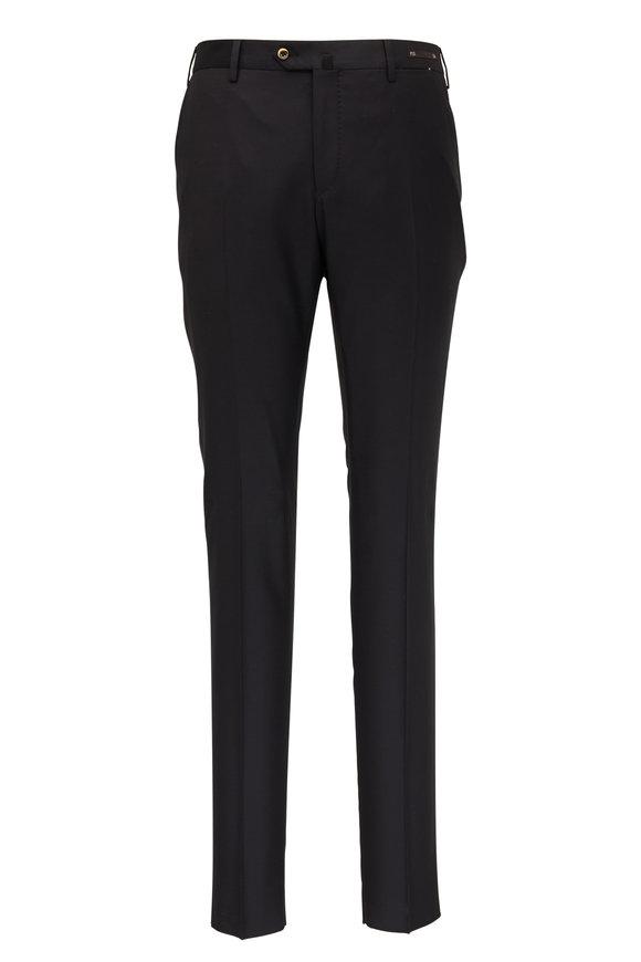PT Torino Black Wool Super Slim Fit Pant