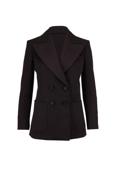 Saint Laurent - Black Wool Double-Breasted Jacket
