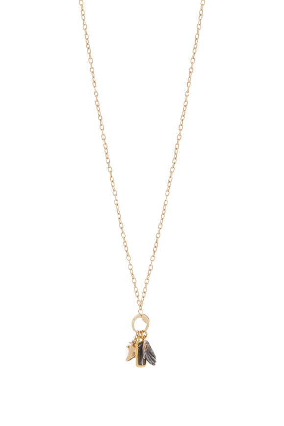 Haute Victoire Caprice Gold Charm Necklace