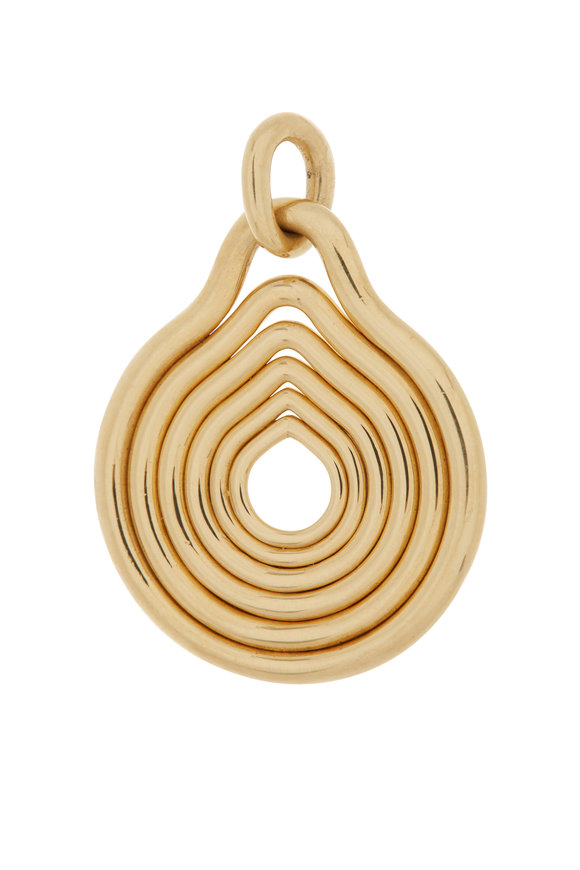 Fernando Jorge 18K Yellow Gold Rounded Lines Pendant