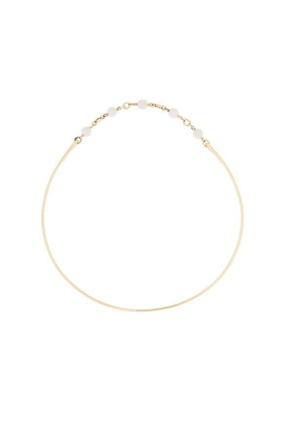 Sylva & Cie 18K Yellow Gold Pearl & Chain Choker Extension