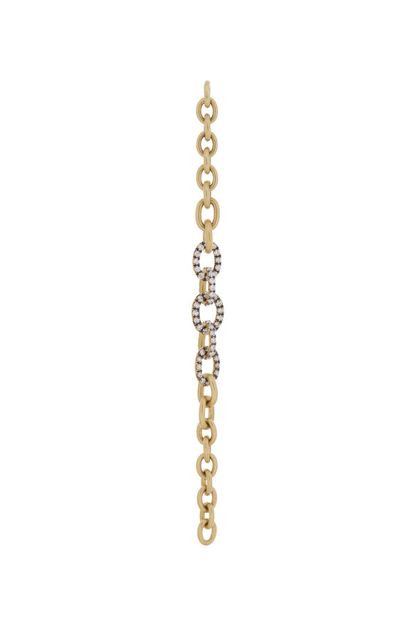 Sylva & Cie 18K Yellow Gold Diamond Link Choker Extension