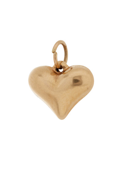 Fred Leighton - 14K Yellow Gold Puffed Heart Charm