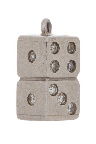 Fred Leighton - Platinum Art Deco Diamond Dice Charm