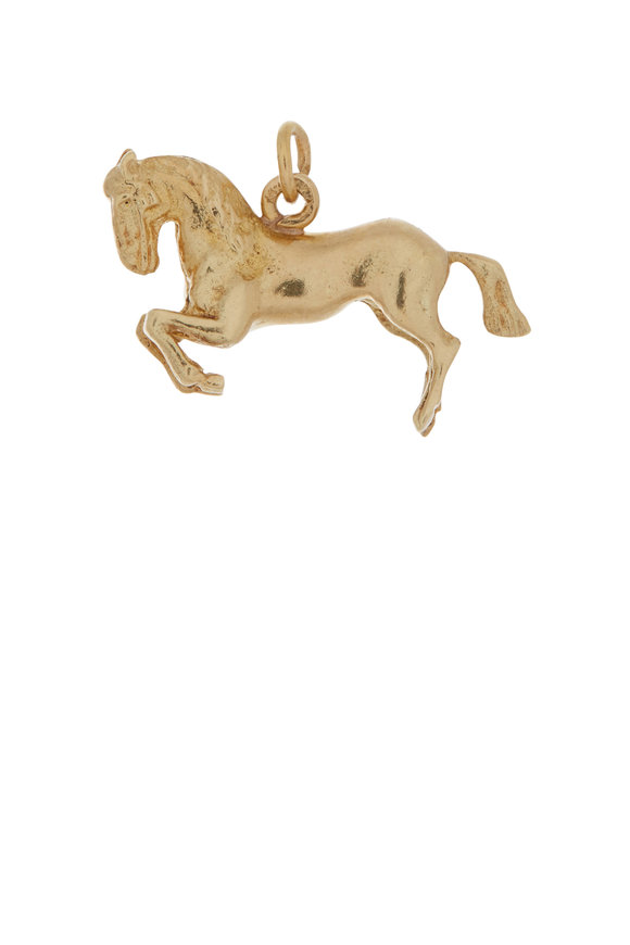 Fred Leighton 14K Yellow Gold Rearing Horse Charm