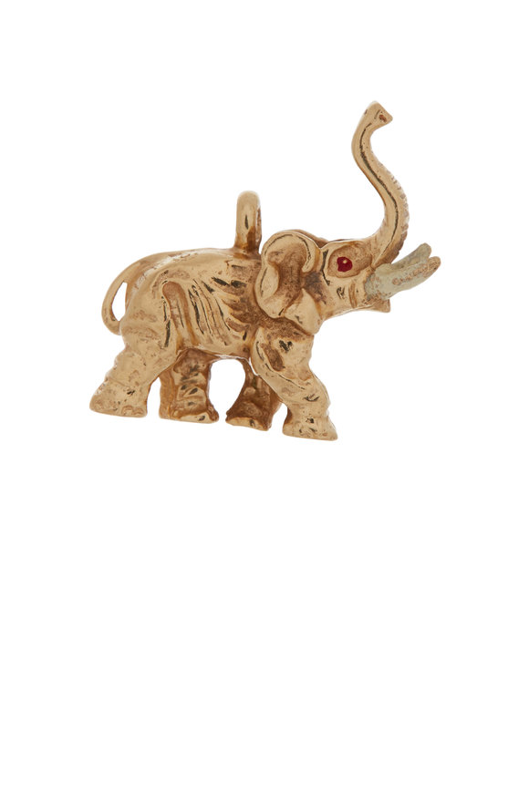 Fred Leighton 14K Yellow Gold Elephant Charm