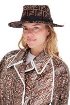 Fendi - Tobacco Wool & Cashmere FF Logo Hat