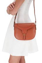 Tod's - Joy Brick Pebbled Leather Crossbody Bag