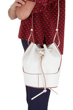Loewe - Small Balloon Soft White Smooth Leather Bag