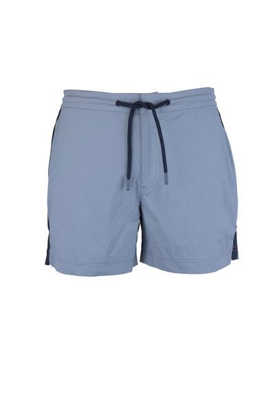 Orlebar Brown - Setter  Gray Side Striped Swim Trunks