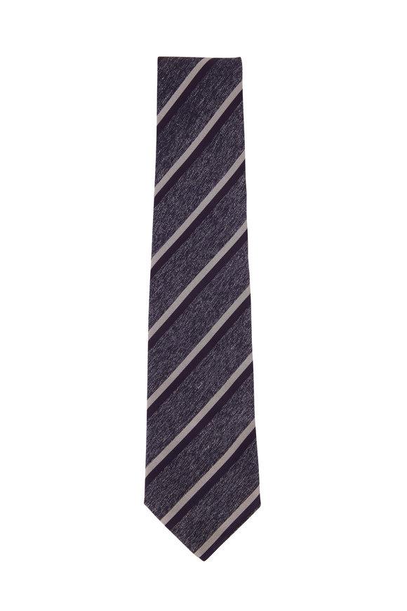 Isaia Blue Striped Necktie