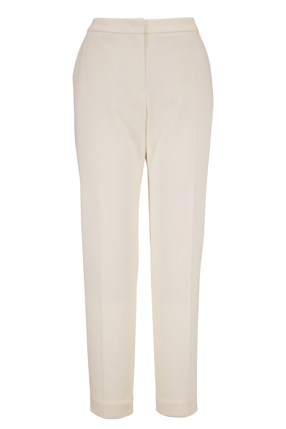 Escada Talass Off-White Jersey Crop Pant