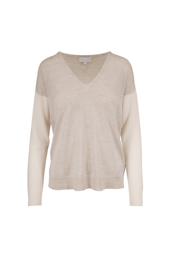 Escada Sthena Vapour Wool V-Neck Sweater