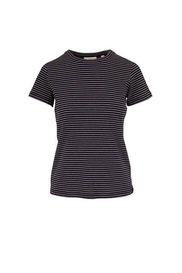 Vince Coastal & Optic White Stripe Essential T-Shirt