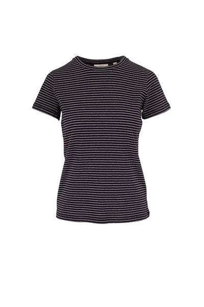 Vince - Coastal & Optic White Stripe Essential T-Shirt