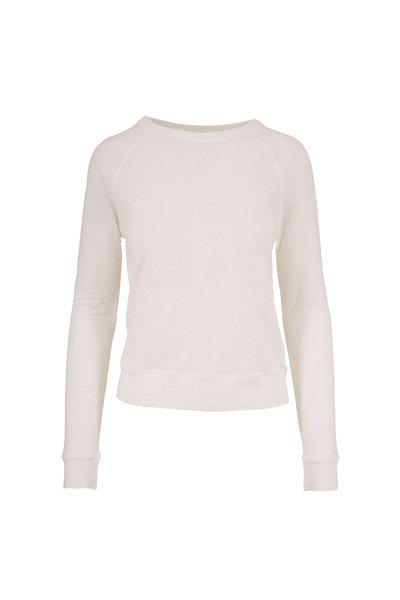 Vince - Optic White Linen Raglan Sleeve Top