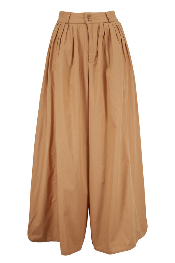 AG - Adriano Goldschmied Hadley Sandy Pail High-Rise Pleated Culottes