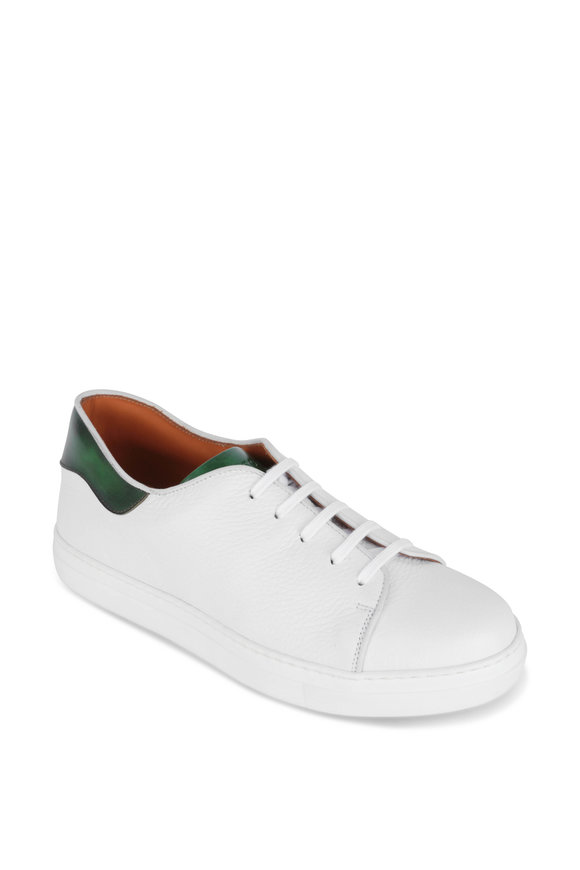 Bontoni Furlissimo White & Green Leather Sneaker