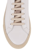 WOMAN by COMMON PROJECTS - Retro Special Editon White & Tan Low-Top Sneaker