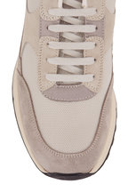 WOMAN by COMMON PROJECTS - Track Light Gray Mesh & Suede Classic Sneaker
