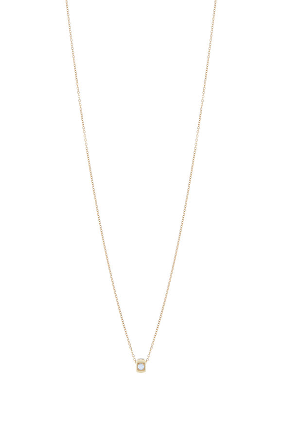James Banks 18K Yellow Gold Code Pendant Necklace
