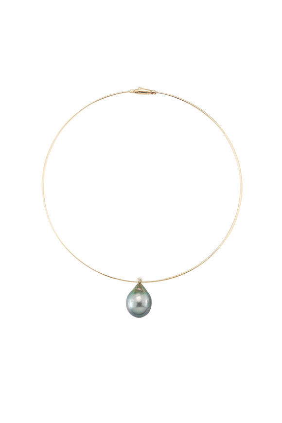 Mizuki Yellow Gold Tahitian Pearl Collar Necklace