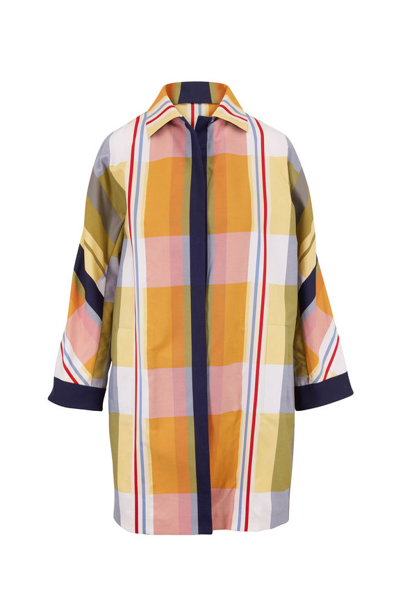 Akris Hellen Fantasy Stripes Over Coat