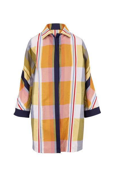 Akris - Hellen Fantasy Stripes Over Coat
