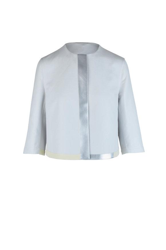 Akris Fayette Silver Luce Silk Blend Jacket