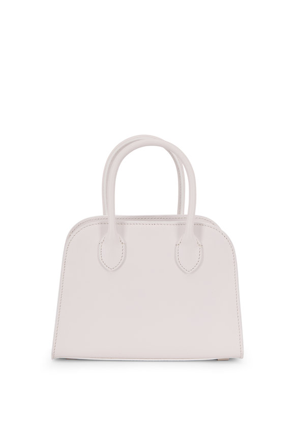 The Row Margaux 7.5 Snow Leather Small Top Handle Bag