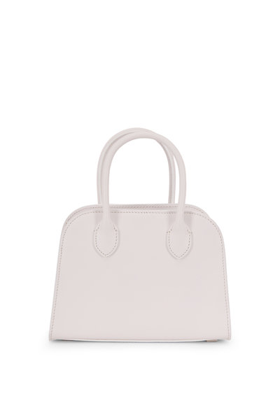 The Row - Margaux 7.5 Snow Leather Small Top Handle Bag