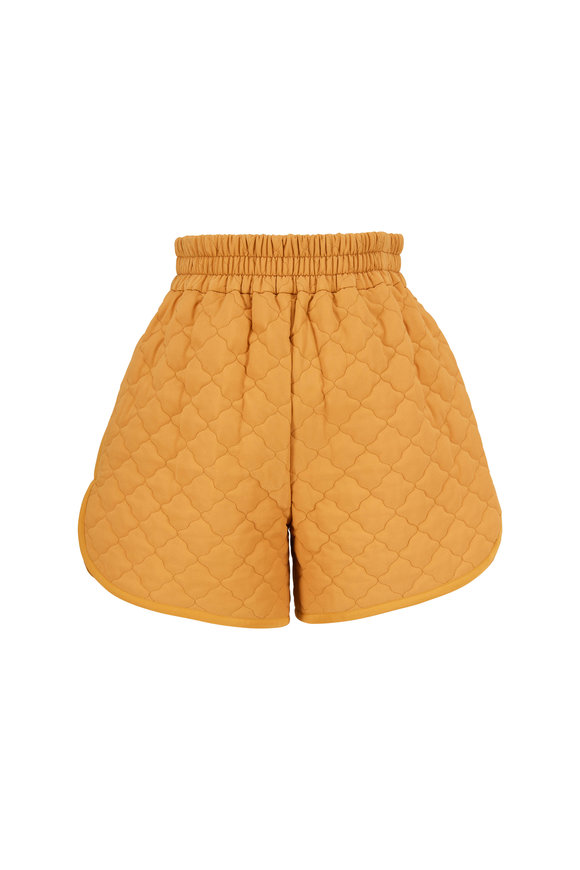 Fendi Maple Washed Silk Quilted Shorts