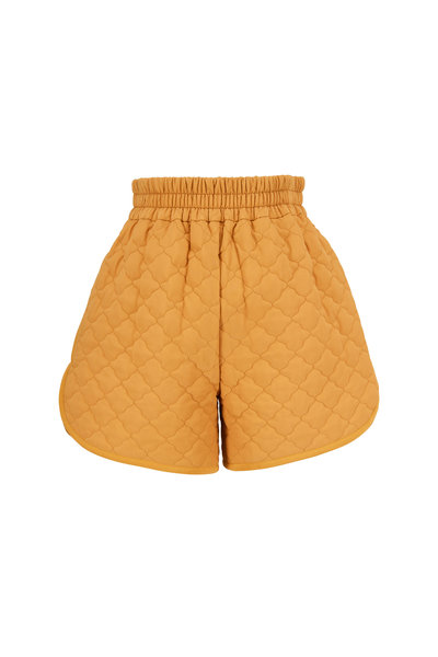 Fendi - Maple Washed Silk Quilted Shorts