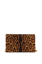 Saint Laurent - Monogram Leopard Print Canvas Chain Wallet