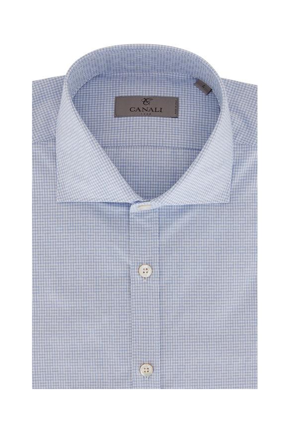 Light Blue Check Sport Shirt