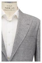 Brunello Cucinelli - Gray Hopsack Linen, Wool & Silk Sportcoat