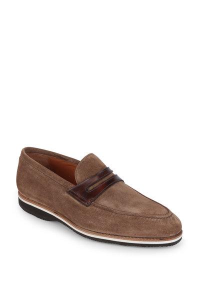 Bontoni - Principe Cigar Suede & Leather Penny Loafer