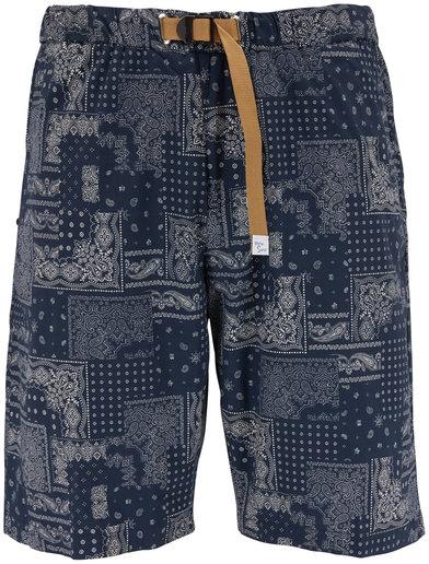 White Sands Navy Bandanna Print Belted Shorts