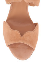 Chloé - Lauren Reef Shell Suede Scalloped Sandal, 60mm