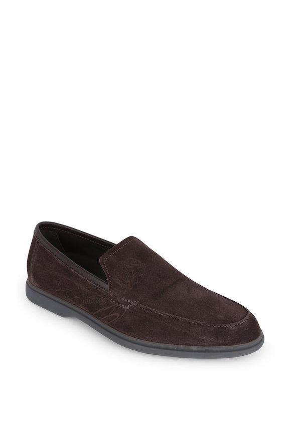 Berluti Latitude TDM Suede Leather Loafer