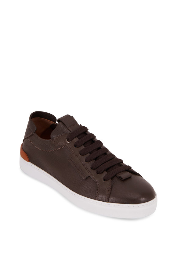 Ermenegildo Zegna Ferrara Dark Brown Leather Sneaker