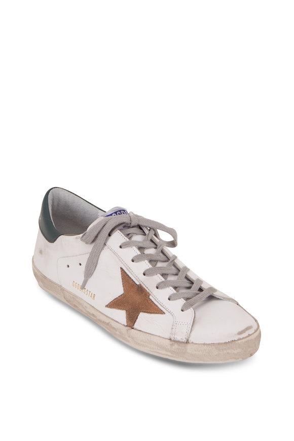 Golden Goose Superstar White Leather Tan Star Sneaker